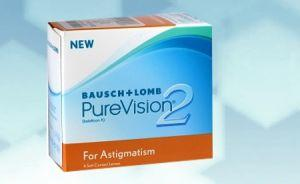 PureVision 2 HD for Astigmatism (6er Box) plus eine Gratislinse